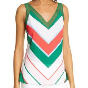 TED BAKER Paisly Tutti Frutti Stripe Tank Top